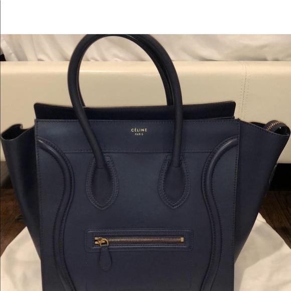 65b6421ad3d4 Authentic Celine Navy blue Mini Luggage. Celine.  M 5b3a1e4f6a0bb70862a6150d. M 5b3a1e4c2e147821c9dd60a3.  M 5b3a1e4e03087c07bbad0461